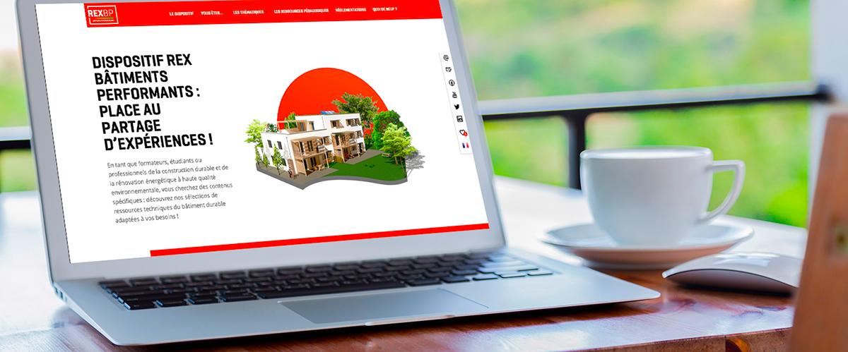 Site web dispositif Rex Bâtiments Performants de l'AQC