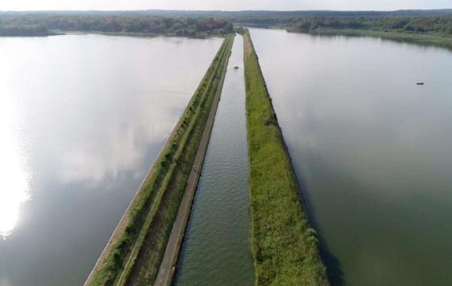 Canal de la Marne au Rhin à Grondrexange