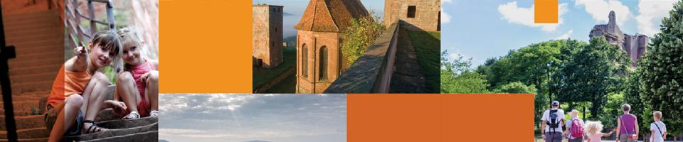 Réalisations print ADT - Brochure pour la promotion des chateaux forts d'Alsace