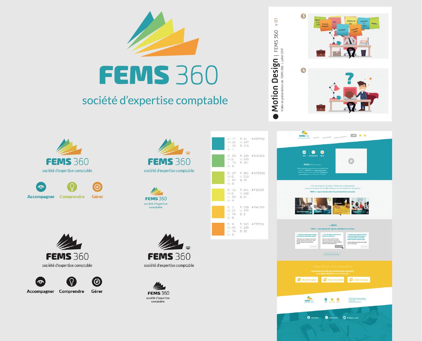 de nombreuses réalisations imprimés pour FEMS 360