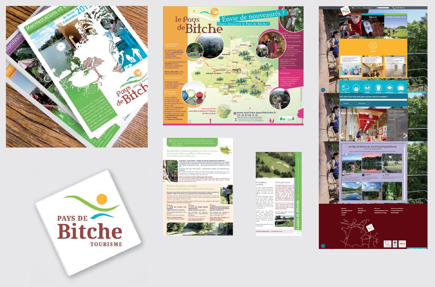 Réalisations print pour l'Office de tourisme intercommunal du Pays de Bitche