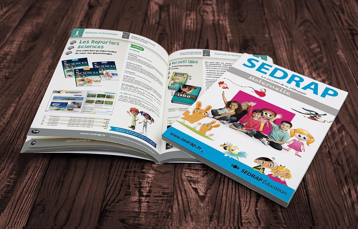 de nombreuses réalisations imprimés pour SEDRAP