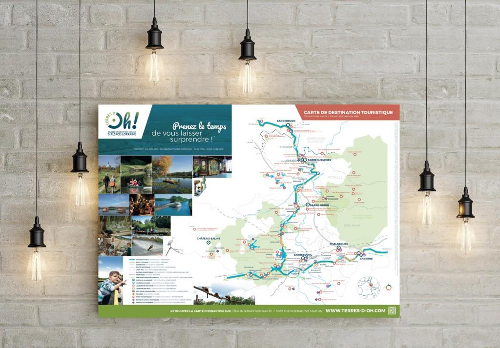 Carte touristique de la destination Terres d'Oh !