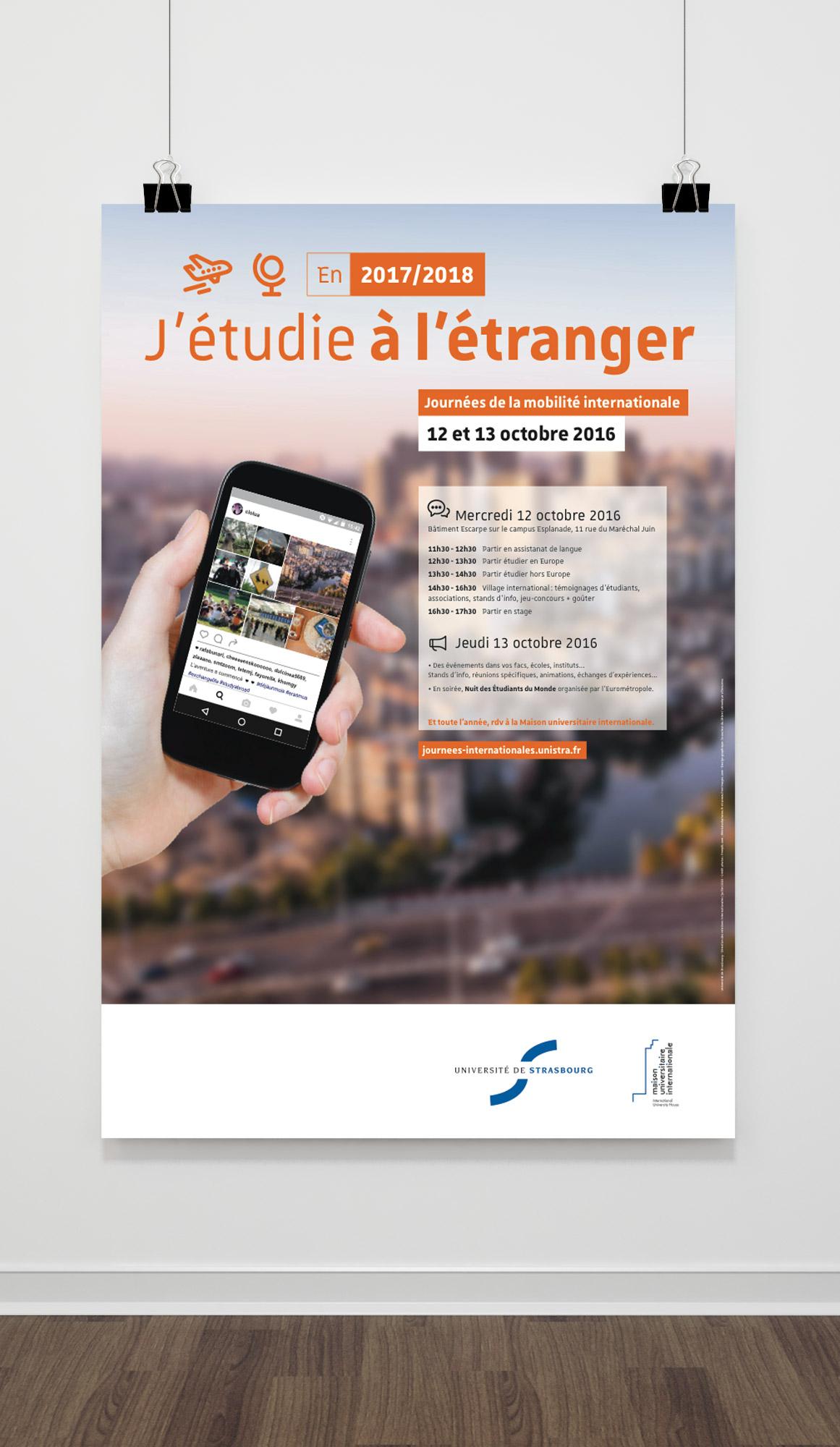 Conception et réalisation de supports imprimés pour l'Université de Strasbourg