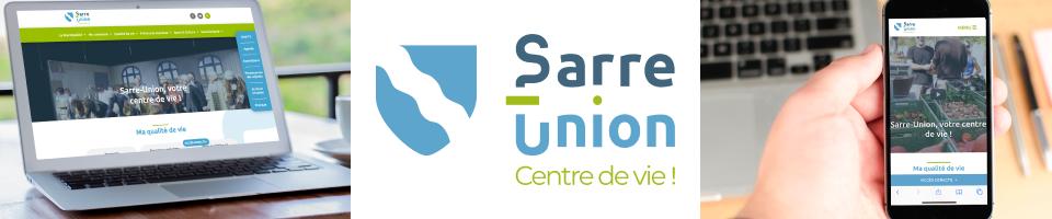site web de sarre-union sur pc et mobile et logo