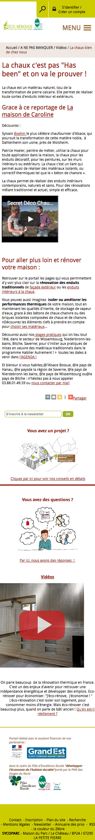 Exemple d'article sur mobile
