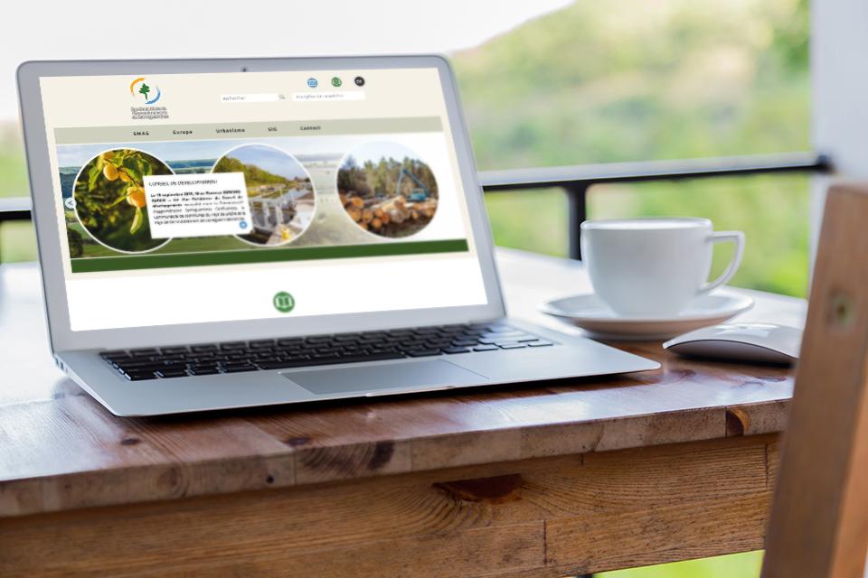 Ergonomie, habillage graphique et réalisation du site web pour le Syndicat Mixte de l'Arrondissement de Sarreguemines